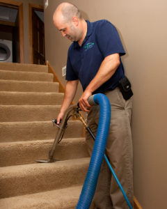 Green Clean Carpet Care cleaning stairs
