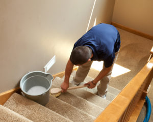Green Clean carpet cleaning stairs