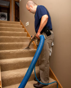 Green Clean extracting stairs