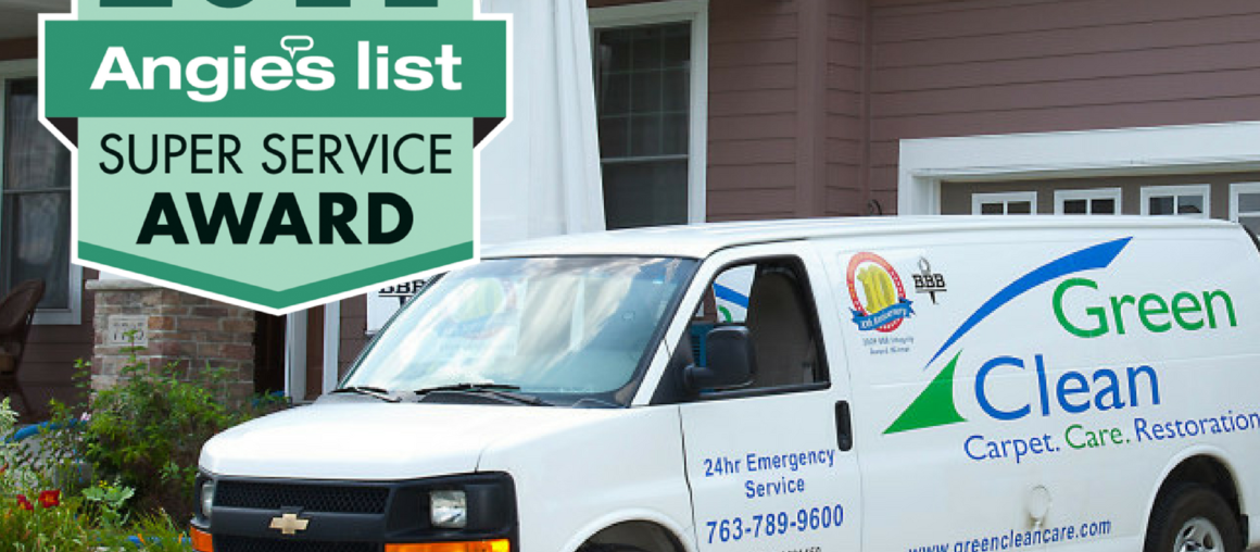 Green Clean Restoration & Cleaning Awarded Angie's List SSA!