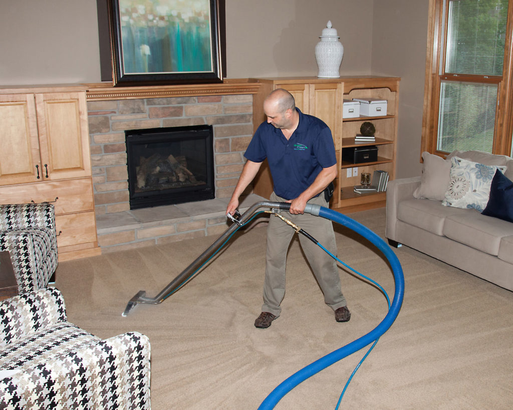 Carpet cleaning extraction in St. Paul, MN